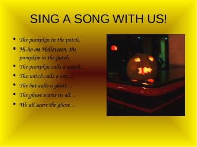 SING A SONG WITH US! The pumpkin in the patch, Hi-ho on Halloween, the pumpki...