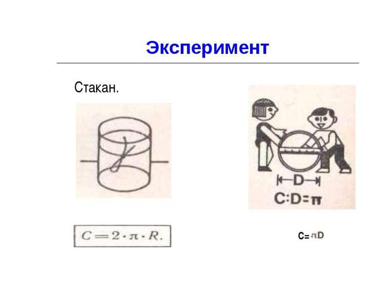 Эксперимент Стакан. C=