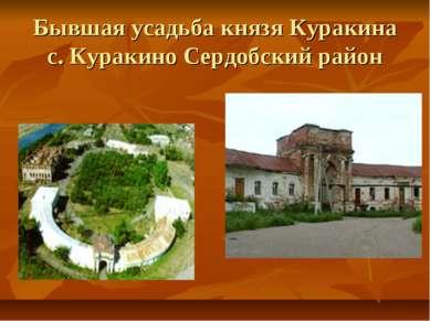 Бывшая усадьба князя Куракина с. Куракино Сердобский район