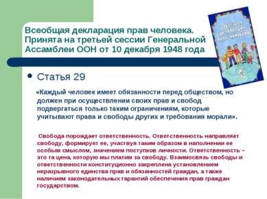 Всеобщая декларация прав человека. Принята на третьей сессии Генеральной Асса...