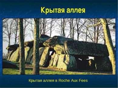 Крытая аллея Крытая аллея в Roche Aux Fees