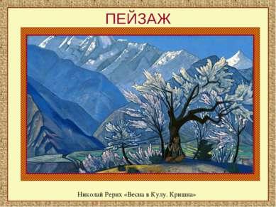 ПЕЙЗАЖ Николай Рерих «Весна в Кулу. Кришна»