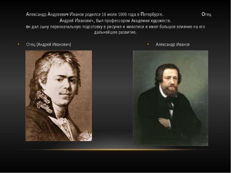 Отец (Андрей Иванович) Александр Иванов Александр Андреевич Иванов родился 16...