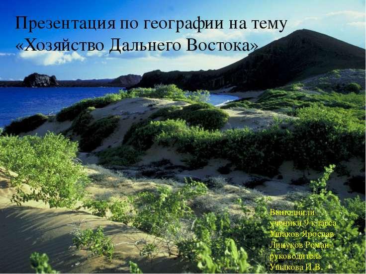 Презентация по географии на тему «Хозяйство Дальнего Востока» Выполнили учени...
