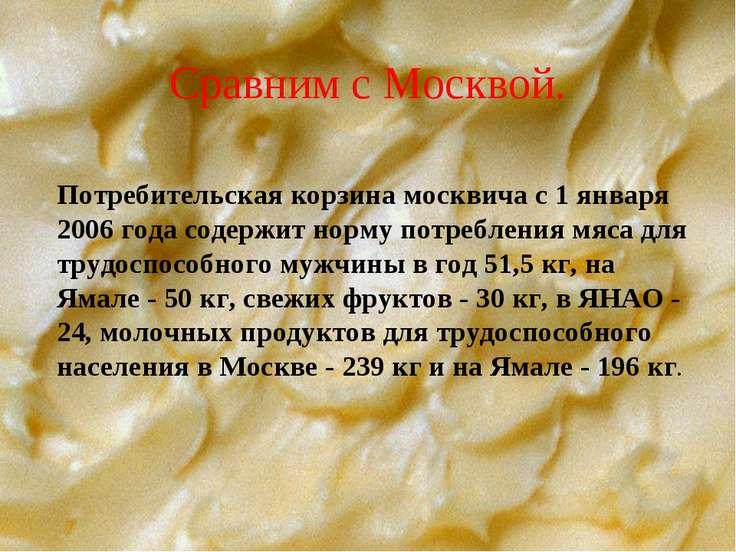 Сравним с Москвой. Потребительская корзина москвича с 1 января 2006 года соде...