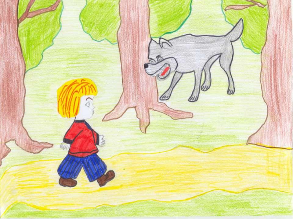музыкальная сказка с рисунками петя волк