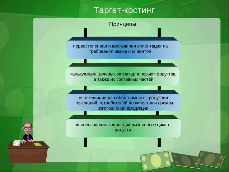 Таргет-костинг Принципы первостепенная и постоянная ориентация на требования ...