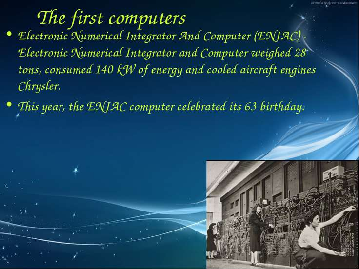 Electronic Numerical Integrator And Computer (ENIAC) - Electronic Numerical I...