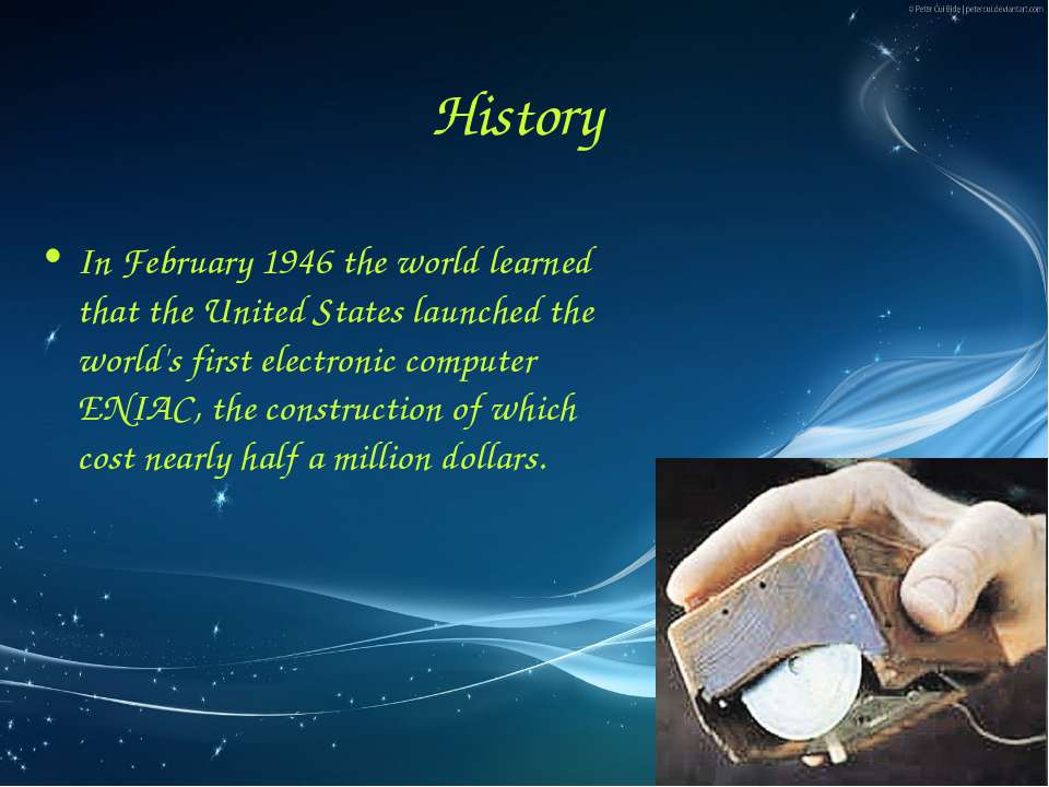 History In February 1946 the world learned that the United States launched th...