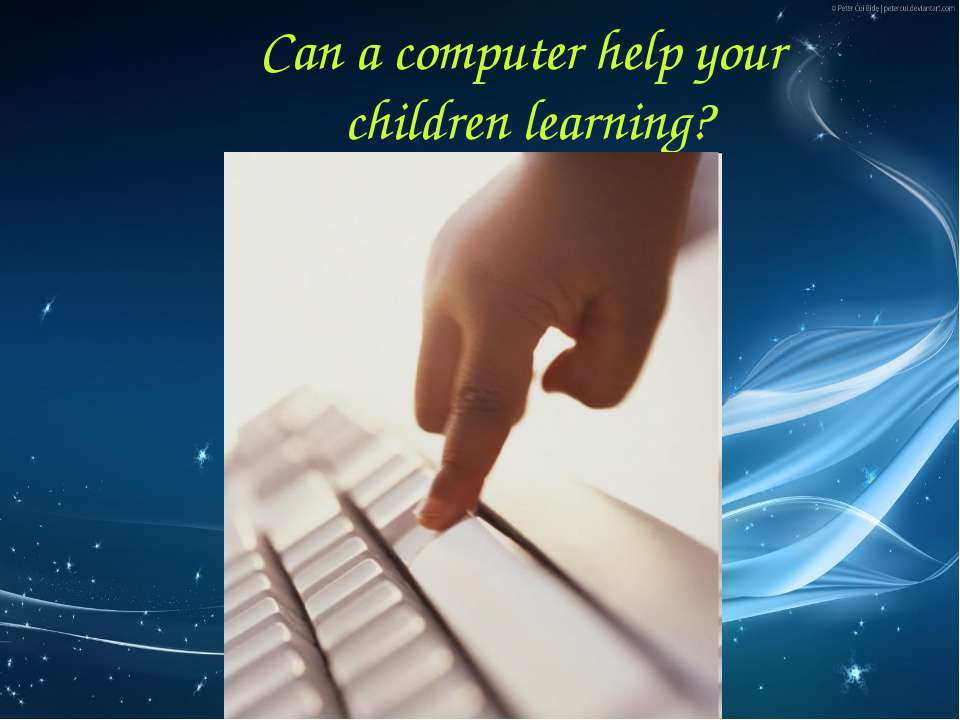 Can a computer help your children learning?