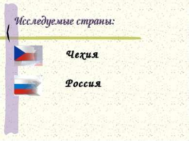 Исследуемые страны: Чехия Россия
