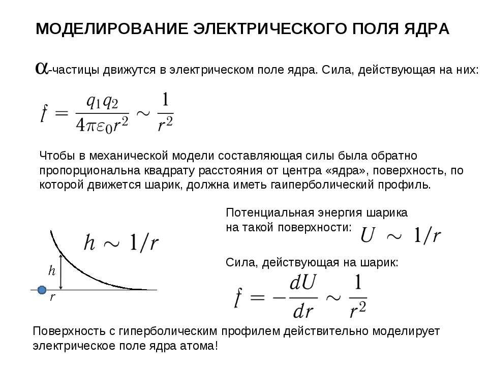 Чтобы в механической модели составляющая силы была обратно пропорциональна кв...
