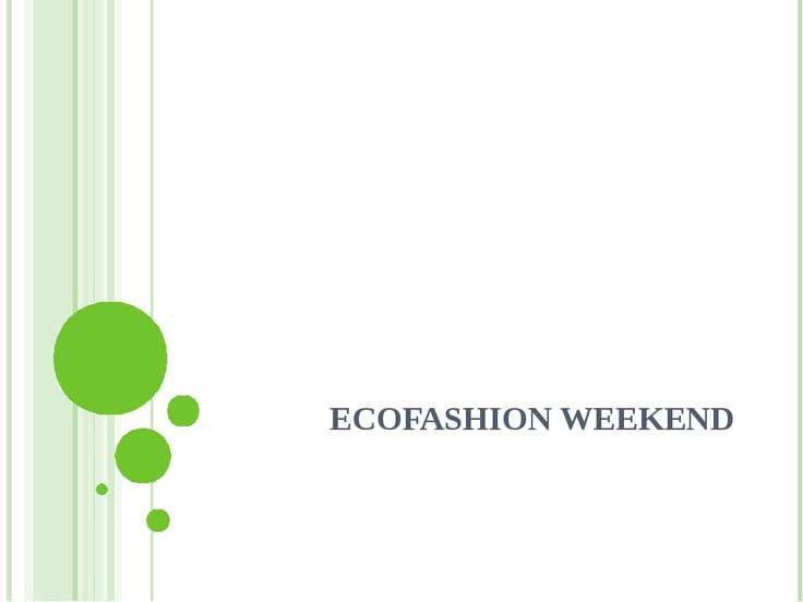 ECOFASHION WEEKEND