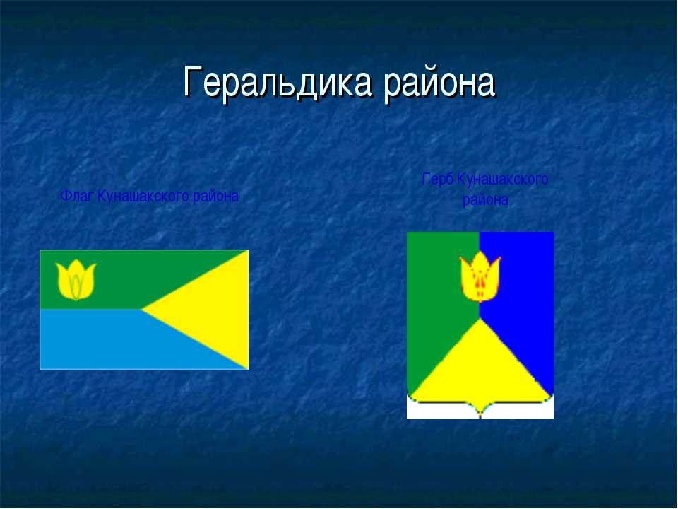 Геральдика района Флаг Кунашакского района Герб Кунашакского района