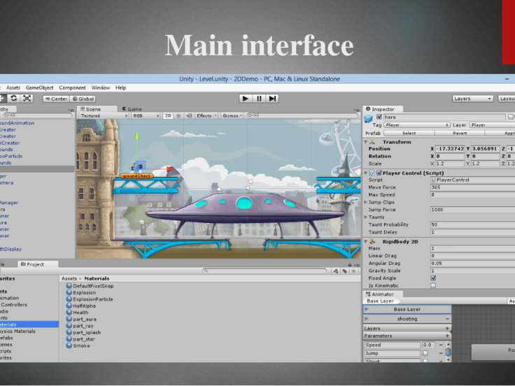 Unity supports art assets and file formats from3ds Max,Maya,Blender,Adobe...