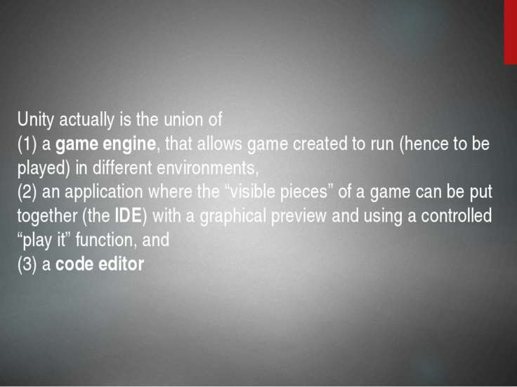 Unity also has built-in support for Nvidia's (formerly Ageia's) PhysX physics...