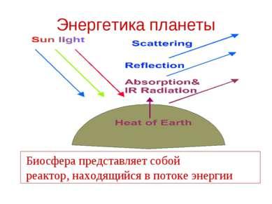 Энергетика планеты Биосфера представляет собой реактор, находящийся в потоке ...