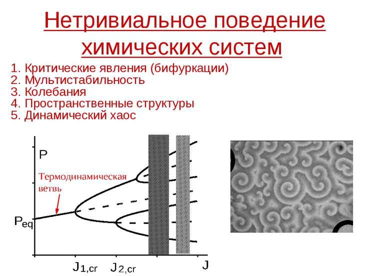 Нетривиальное поведение химических систем 1. Критические явления (бифуркации)...