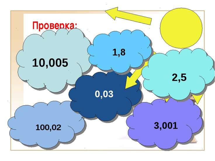 Проверка: 10,005 100,02 0,03 3,001 1,8 2,5