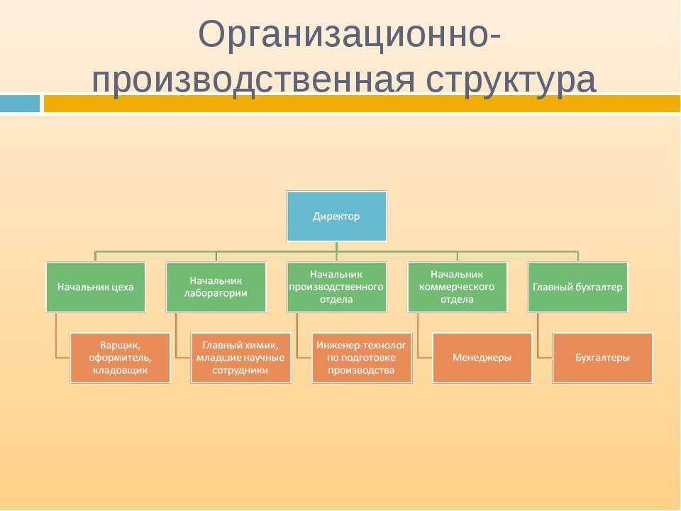 Организационно-производственная структура