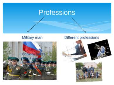 Professions Military man Different professions