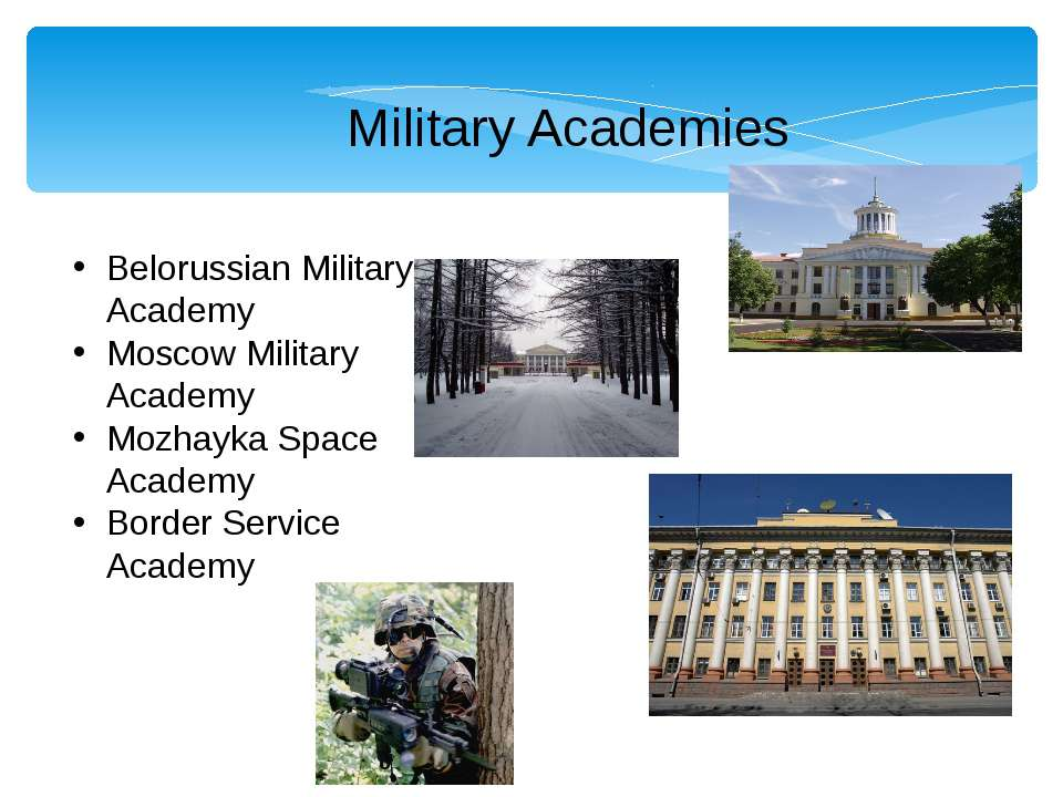 Military Academies Belorussian Military Academy Moscow Military Academy Mozha...
