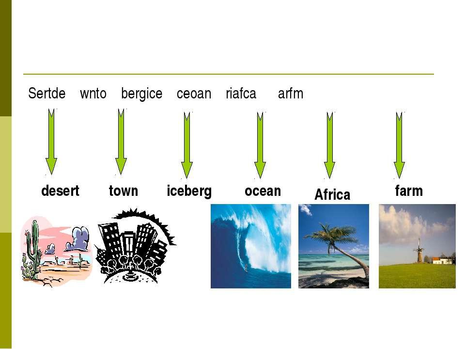Sertde wnto bergice ceoan riafca arfm desert town iceberg ocean Africa farm