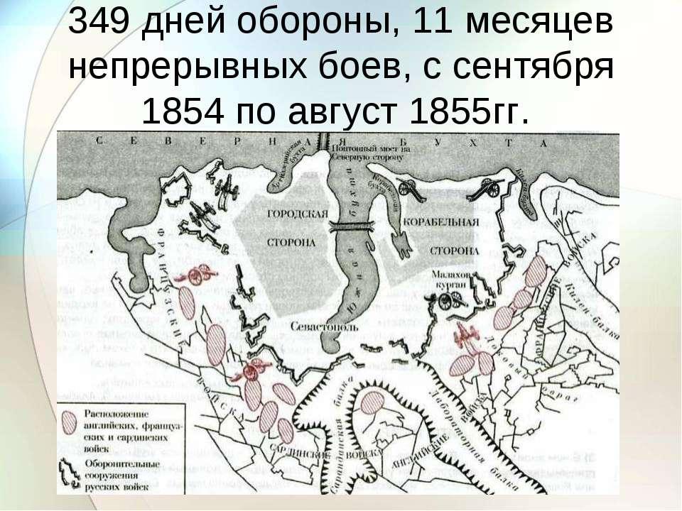 349 дней обороны, 11 месяцев непрерывных боев, с сентября 1854 по август 1855гг.