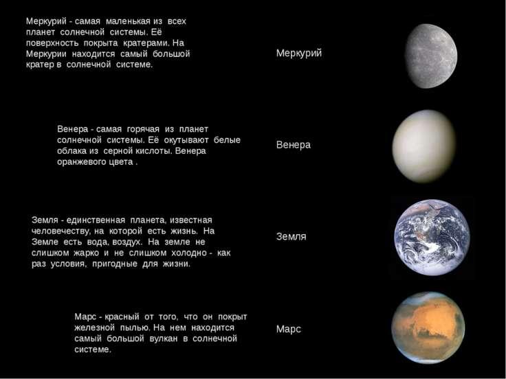 Меркурий - самая маленькая из всех планет солнечной системы. Её поверхность п...