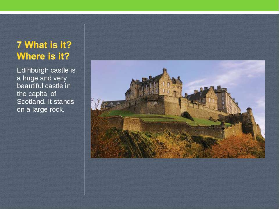 Edinburgh castle is a huge and very beautiful castle in the capital of Scotla...