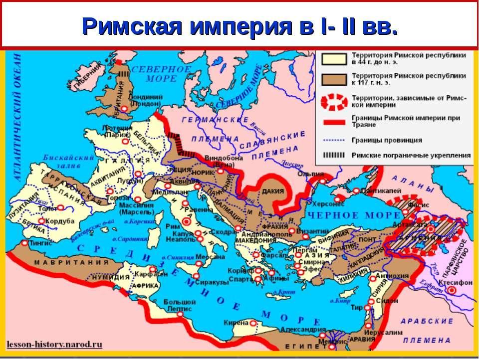 Римская империя в I- II вв.