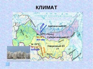 КЛИМАТ tя -32°С tи +8°C 400 мм tя -24°С tи +16°C 600 мм кАВМ кУВМ Арктический...