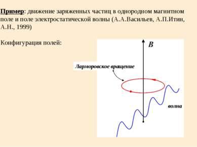 Пример: движение заряженных частиц в однородном магнитном поле и поле электро...