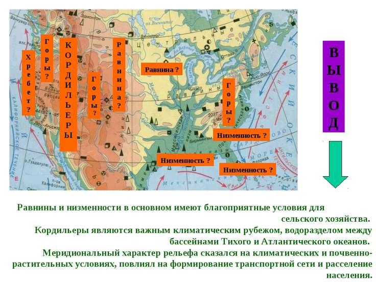 В Ы В О Д Равнины и низменности в основном имеют благоприятные условия для се...