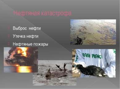 Нефтяная катастрофа Выброс нефти Утечка нефти Нефтяные пожары