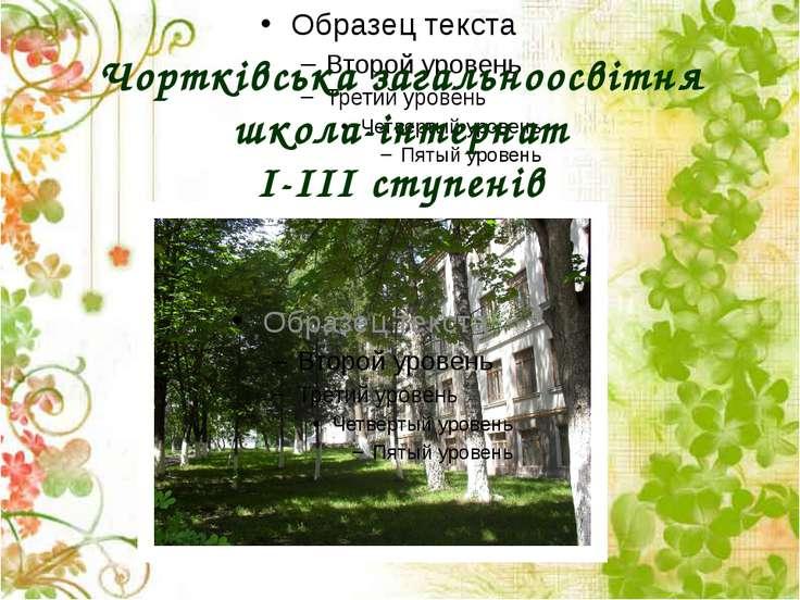 Чортківська загальноосвітня школа-інтернат І-ІІІ ступенів