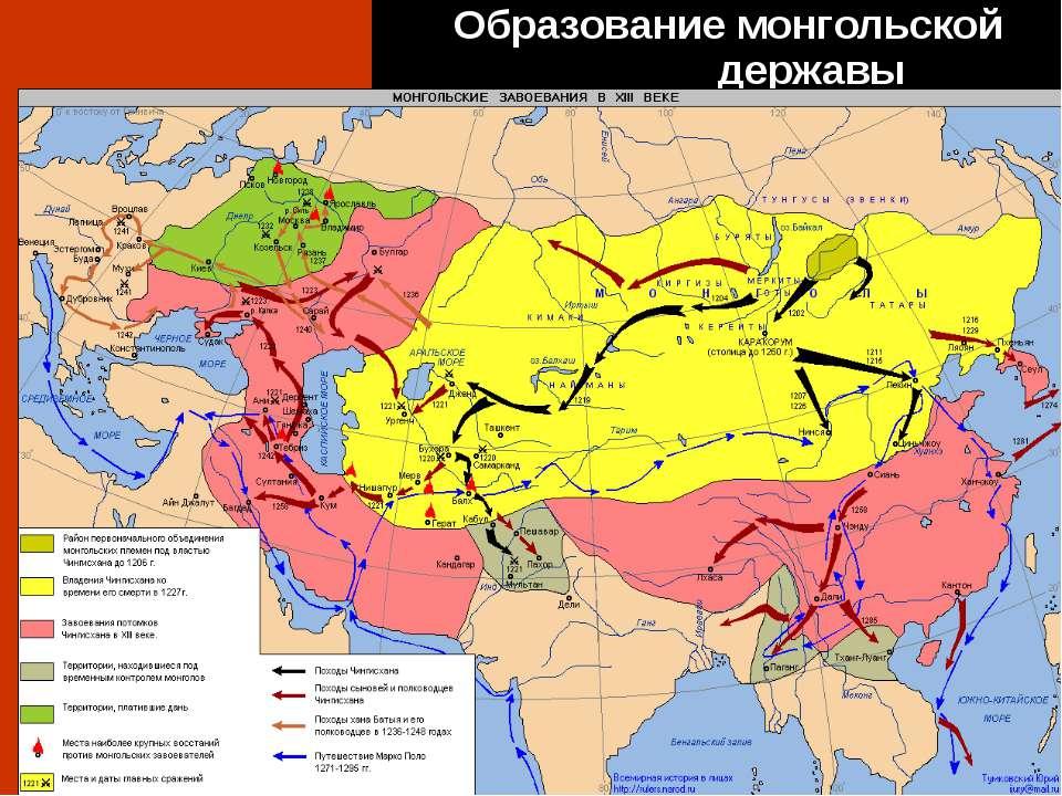 Образование монгольской державы