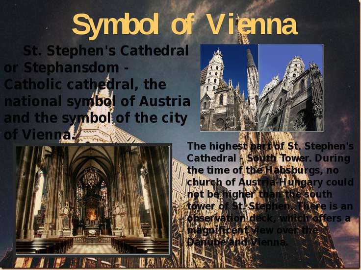 Symbol of Vienna St. Stephen's Cathedral or Stephansdom - Catholic cathedral,...