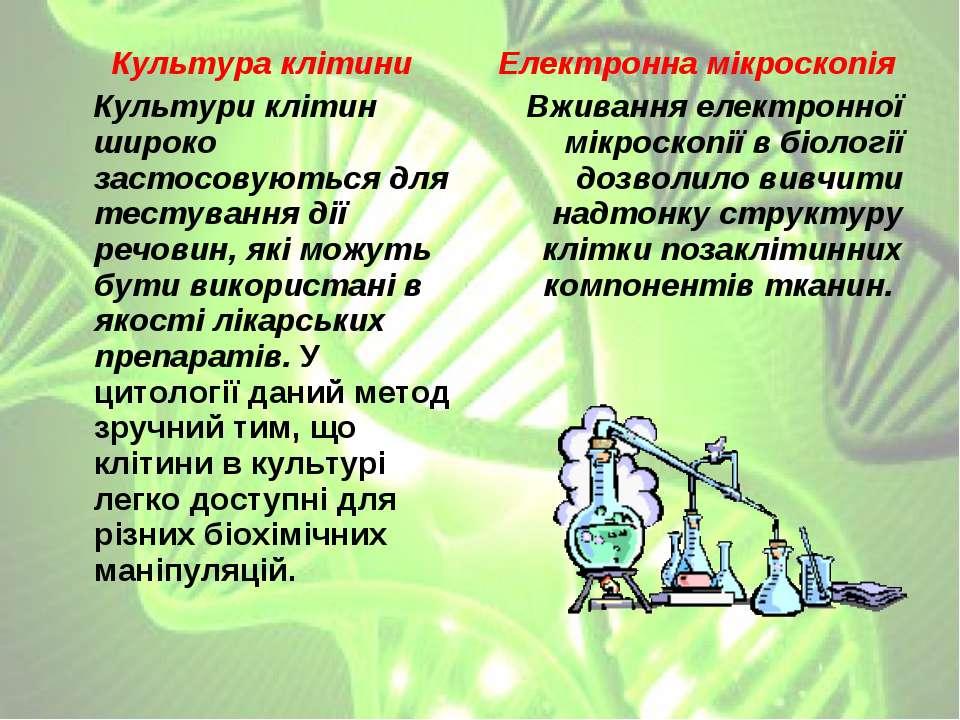 Культура клітини Культури клітин широко застосовуються для тестування дії реч...
