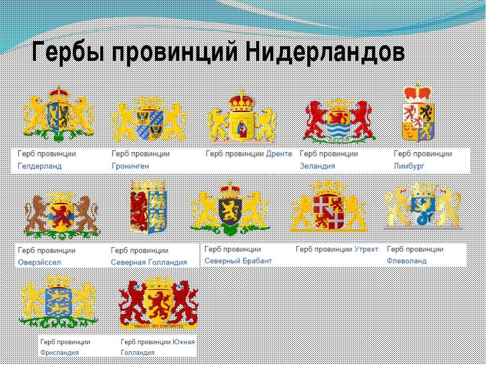 Гербы провинций Нидерландов