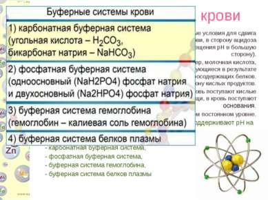 Буферная система крови В организме человека всегда имеются определенные услов...