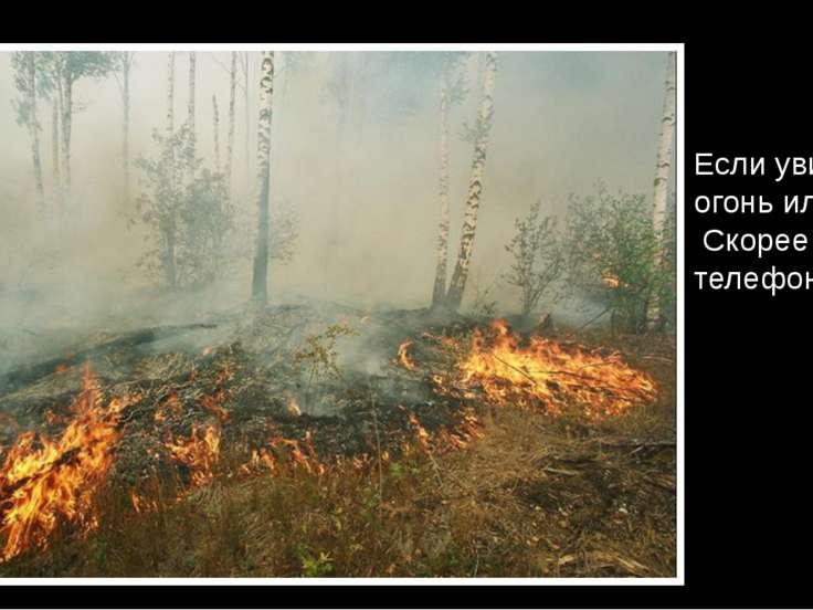 Если увидишь огонь или дым, Скорее звони, телефон – 01.