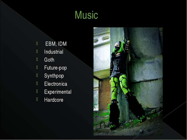 Music  EBM, IDM  Industrial  Goth Future-pop Synthpop  Electronica  Experimen...