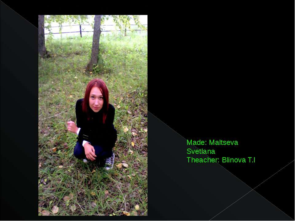 Made: Maltseva Svetlana Theacher: Blinova T.I