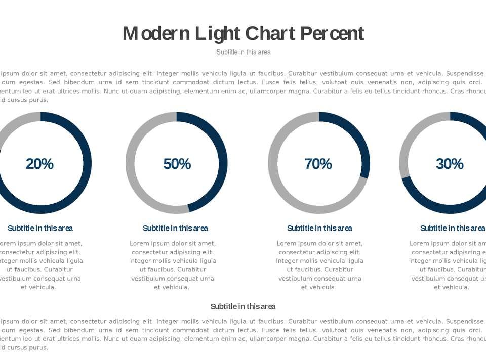 * Modern Light Chart Percent Subtitle in this area Lorem ipsum dolor sit amet...