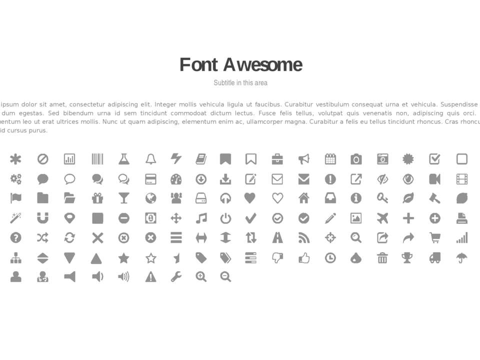 * Font Awesome Subtitle in this area Lorem ipsum dolor sit amet, consectetur ...