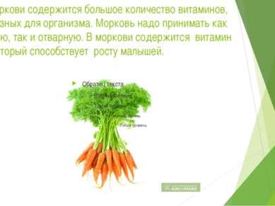 В моркови содержится большое количество витаминов, полезных для организма. Мо...