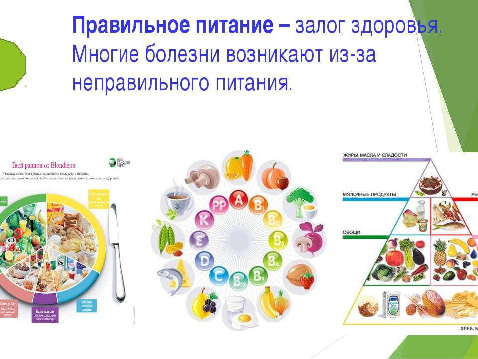 Правильное питание – залог здоровья. Многие болезни возникают из-за неправиль...