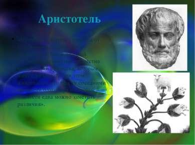 Аристотель «Природа совершает переход от безжизненных объектов к животным с т...