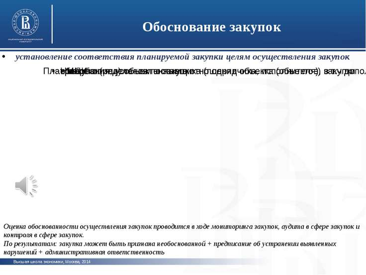 Высшая школа экономики, Москва, 2014 Обоснование закупок фото фото фото устан...